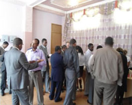 Participants network during the event.